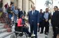 د. الخشت يهنيء طلاب جامعة القاهرة من القدرات الخاصة بمناسبة اليوم العالمي