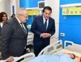 وزير التعليم العالي ورئيس جامعة القاهرة يتفقدان أعمال تطوير مستشفى أبو الريش الياباني