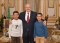 رئيس جامعة القاهرة يستقبل الطفل المتميز في الرياضيات بمكتبه ويؤكد أن الجامعة تتبنى الموهوبين والمبدعين